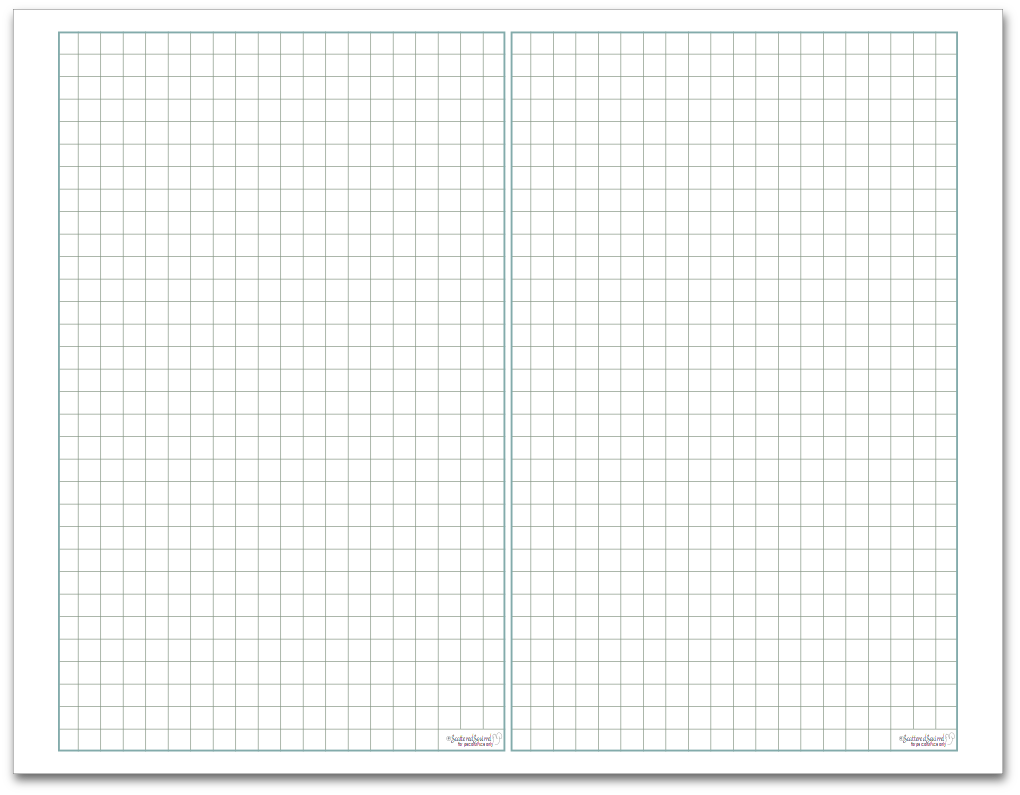 Graph Paper Half-Size