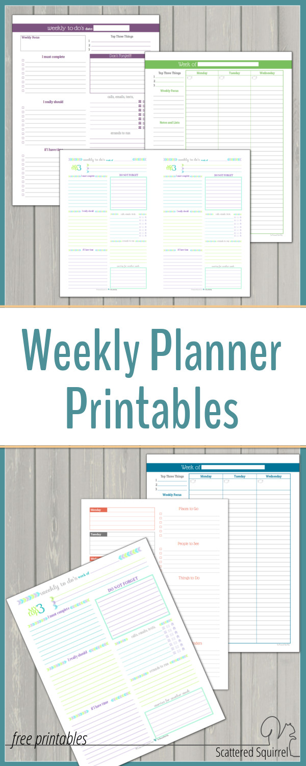 I love being able to see my whole week at a time. Weekly planner printables are a fantastic way to plan your days. They are great for seeing what's happening each week at a quick glance.