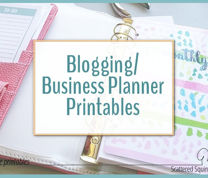 Introducing My New Blog Planner Printables!!!