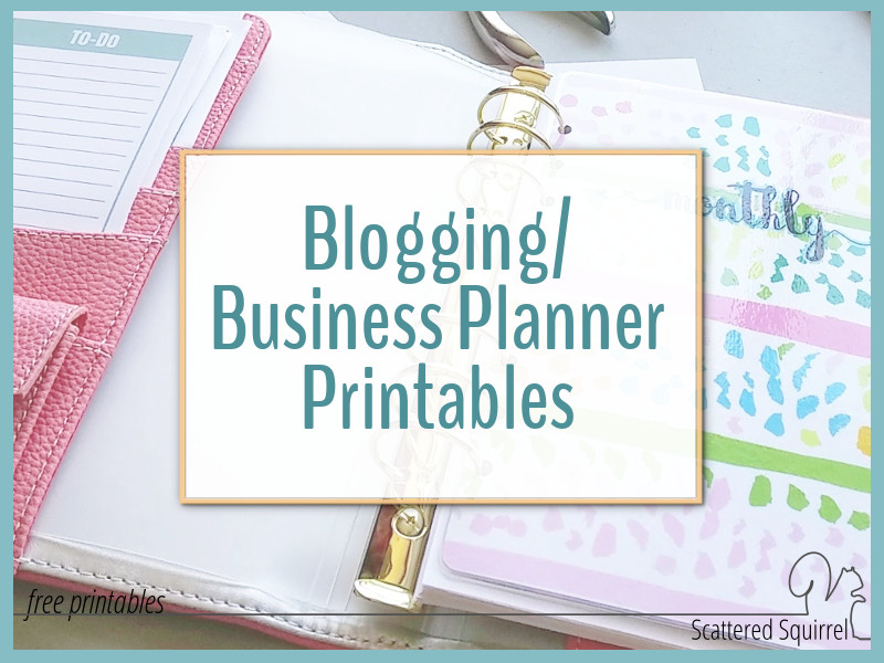photo about Printables Blog called Adding My Clean Web site Planner Printables!!! - Scattered