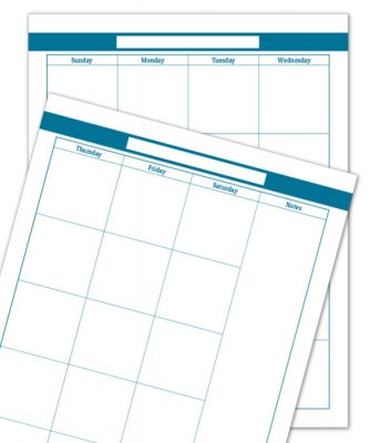 Cobal 2 Page Monthly Calendar