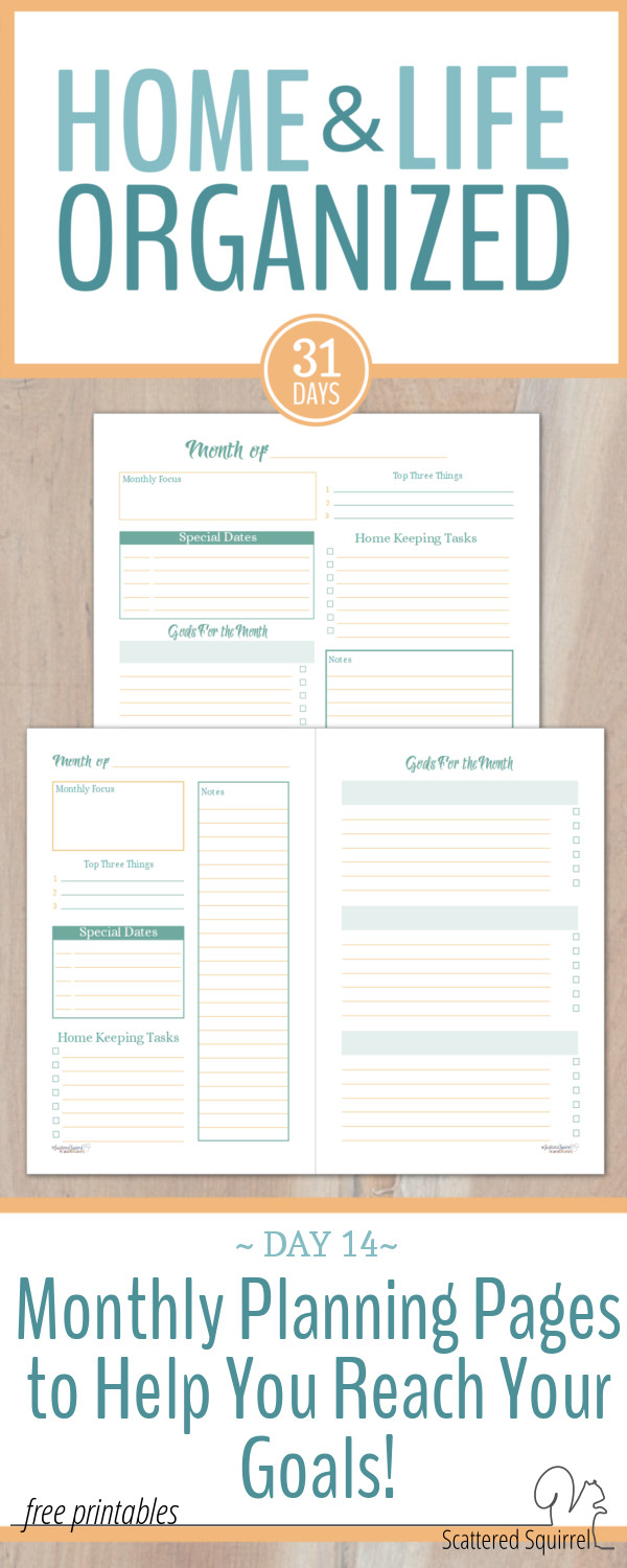 These monthly planning pages are great for helping you stay on track with your goals, structuring your time, and planning for the future.