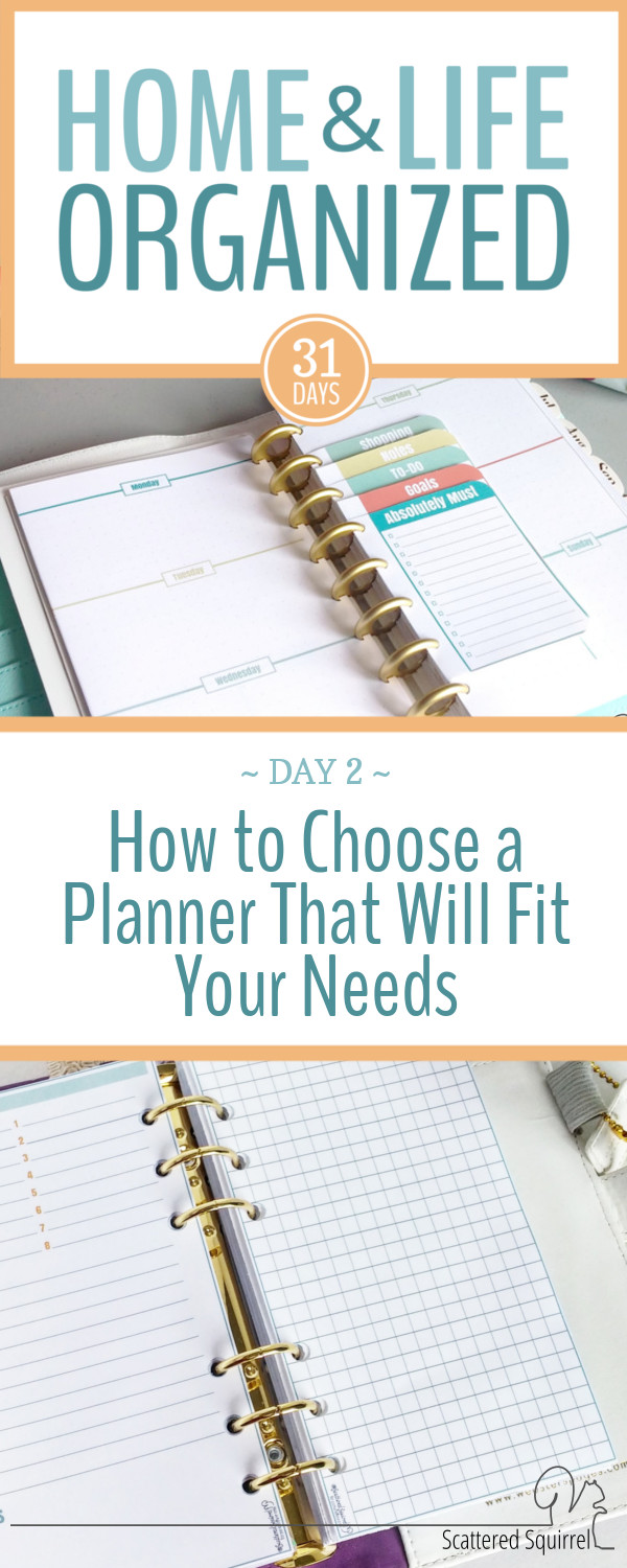 Full or half? Ring or Disc? Large or Small? I'm sharing my tips for how to choose a planner that will fit your needs.