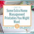 A few extra printables you might want to include in your home management binder.