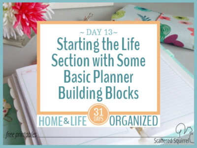 My basic planner builing blocks are always monthly calendars.