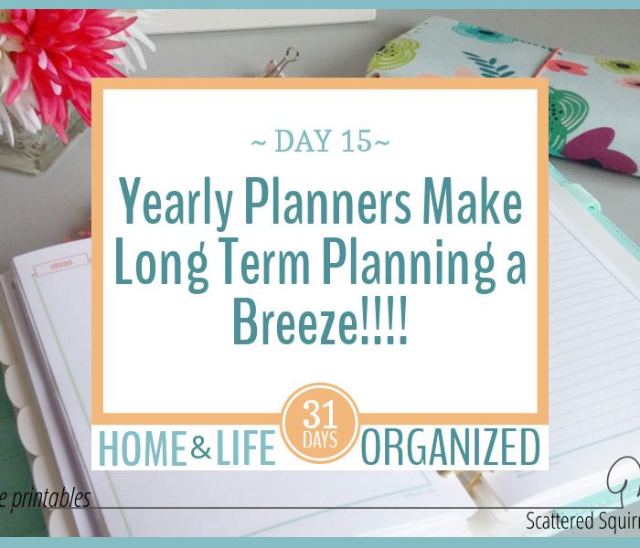 Yearly Planners Make Long Term Planning a Breeze!!!!
