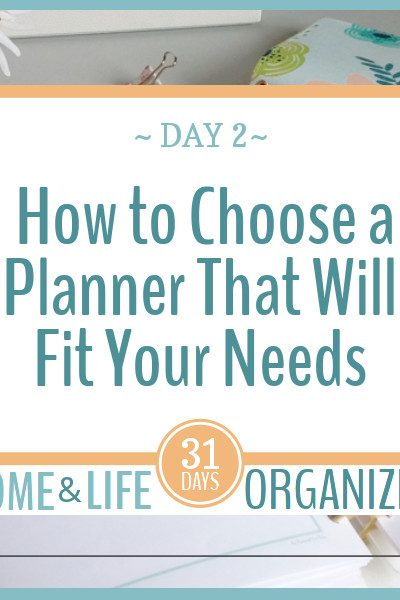 Choosing the right planner for the job takes a little thought, but it's easier than you might think.