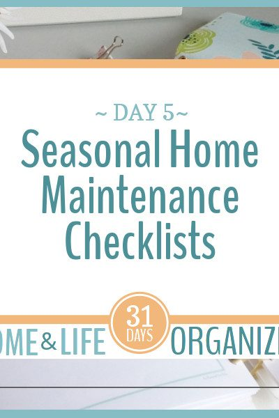 Seasonal tasks are easy to keep track of with these seasonal home maintenance checklists.