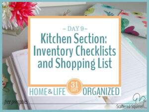 Kitchen Inventory Checklists and Shopping Lists
