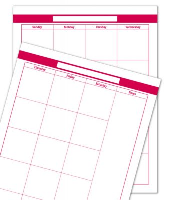 Raspberry 2 Page Monthly Calendar
