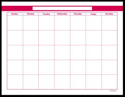 Raspberry Single Page Monthly Calendar