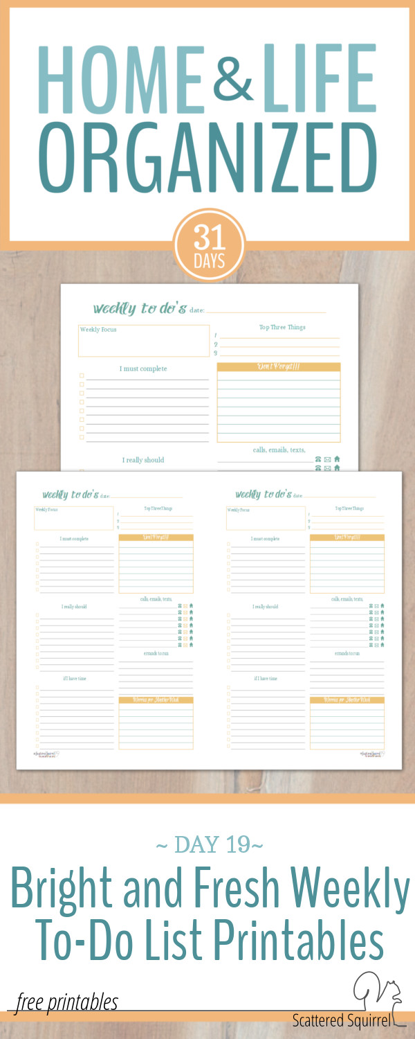 Weekly to-do list printables are a great tool to use to plan your week.