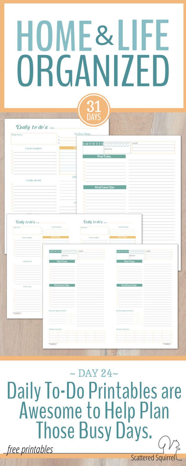 These daily to-do printables are handy tools to have in your planner for tackling those busy days.