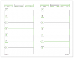 Spring Grass Half-Size Monday Start Horizontal Weekly Planners