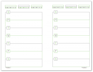 Half-Size Spring Grass Horizontal Single Page Weekly Planner