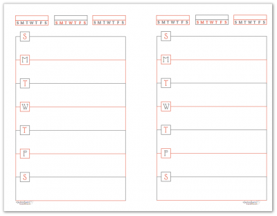 Half-Size Summer Orange Horizontal Single Page Weekly Planner