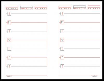 Half-Size Summer Orange Horizontal Single Page Weekly Planner