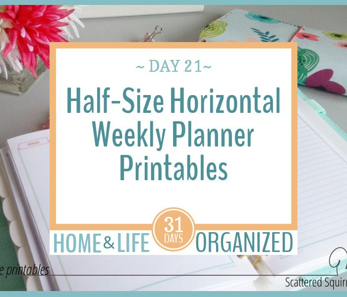 Introducing the Half-Size Horizontal Weekly Planner Printables!