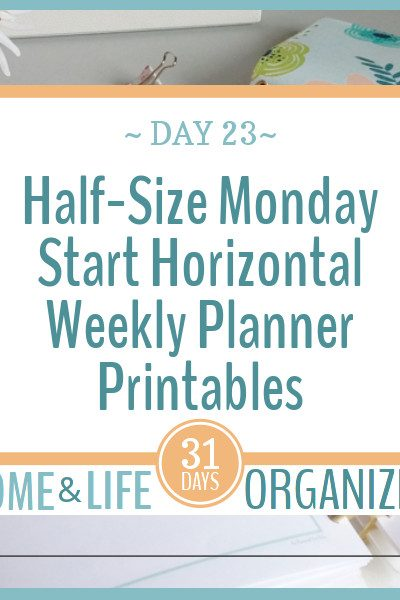 Half-Size Monday Start Weekly Planners are here.