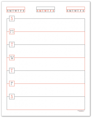 Summer Orange Horizontal Single Page Weekly Planner