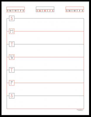 Summer Orange Horizontal Single Page Weekly Planner