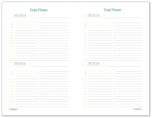 Half-Size Sunshine Skies Simple Daily Planner