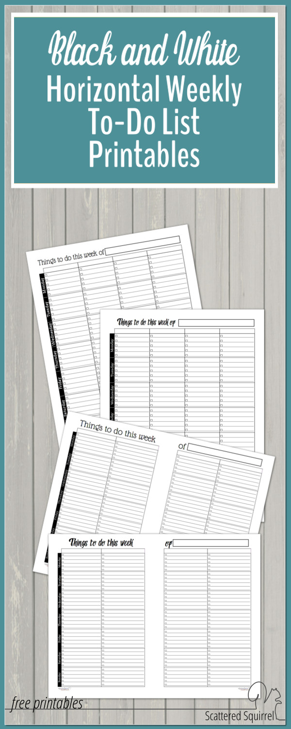 These weekly planner printables are set up to act like to-do lists. Create your own categories for each column so that you're able to plan in a way that works for you.
