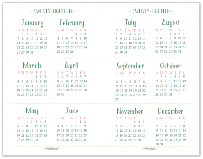 printable calendar 2018 yearly