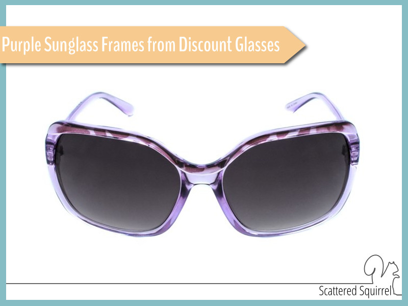 I love these purple sunglass frames from Discount Glasses.