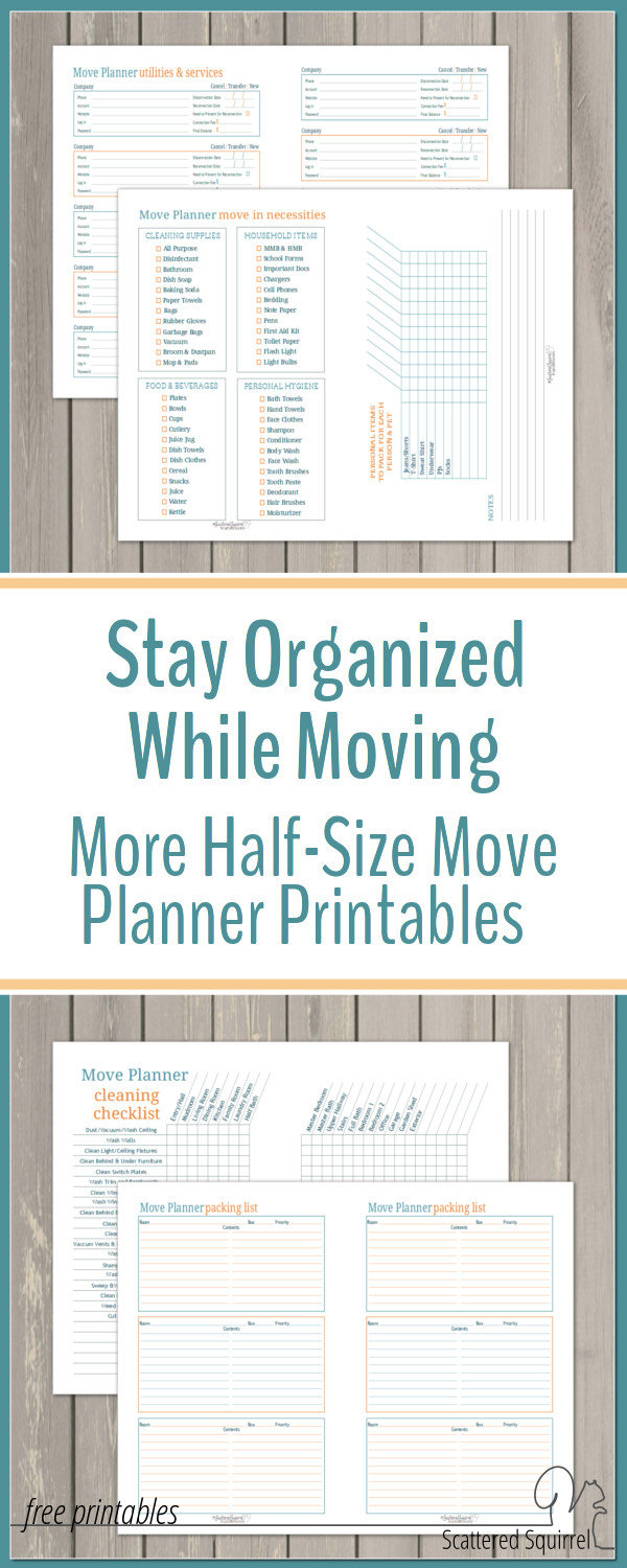 image about Stay Organized With a Printable Moving Checklist called Are living Ready Even though Shifting with Fifty percent-Measurement Transfer Planner