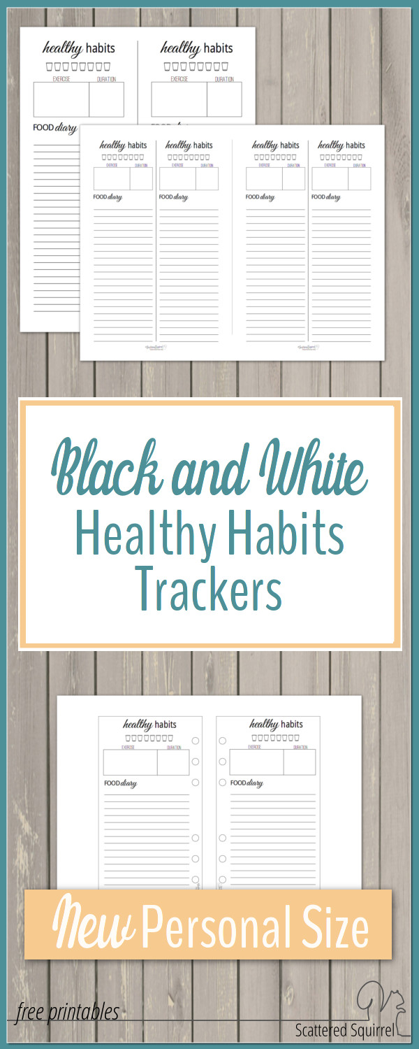 These healthy habits trackers are great for tracking your daily water, exercise, and meals. Put them in your planner for jotting things down on the go.