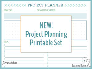 Keep on Track with the New Project Planning Printable Set