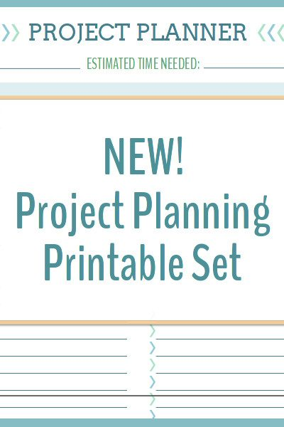 Planning projects is a breeze with this project planning printable set!
