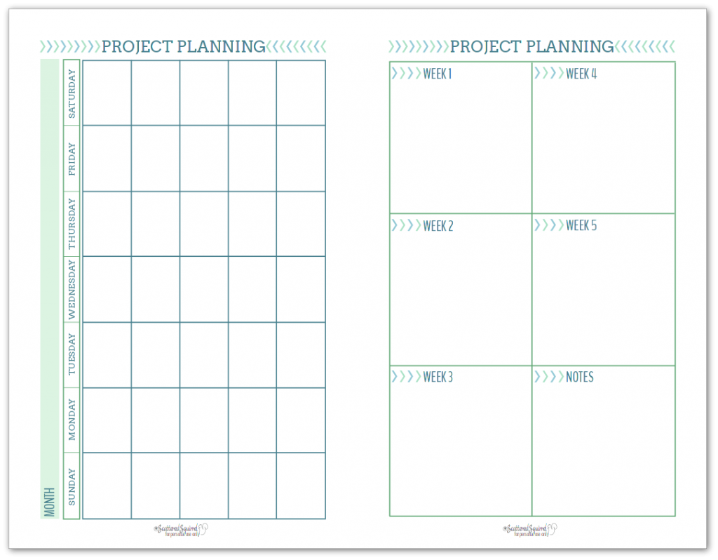 Half-Size Project Planning Page to help you plan how you'll make time for your project.