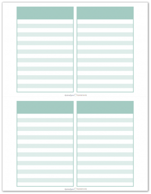 Pocket Notes Aqua