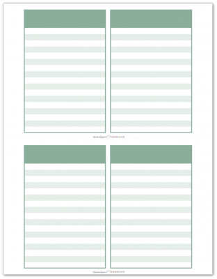 Pocket Notes Green