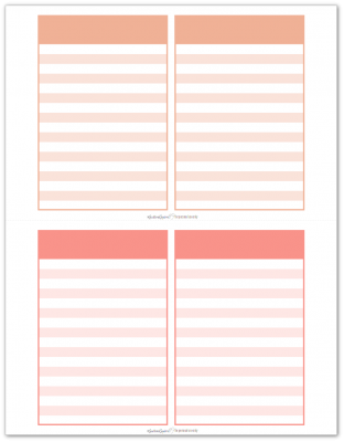 Pocket Notes Orange and Pink