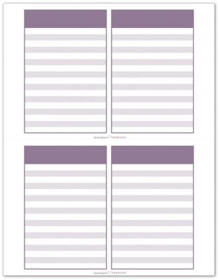 Pocket Notes Purple