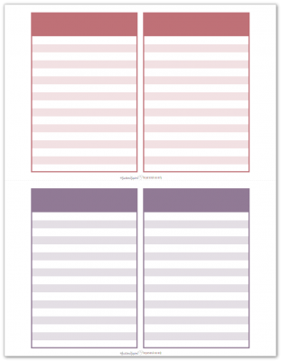 Pocket Notes Raspberry and Purple