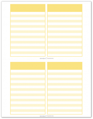 Pocket Notes Yellow