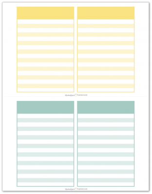 Pocket Notes Yellow and Aqua