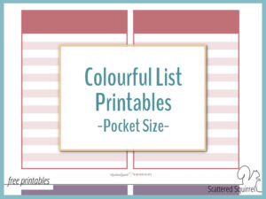 Make a Pocket Size Notebook with these Colourful List Printables