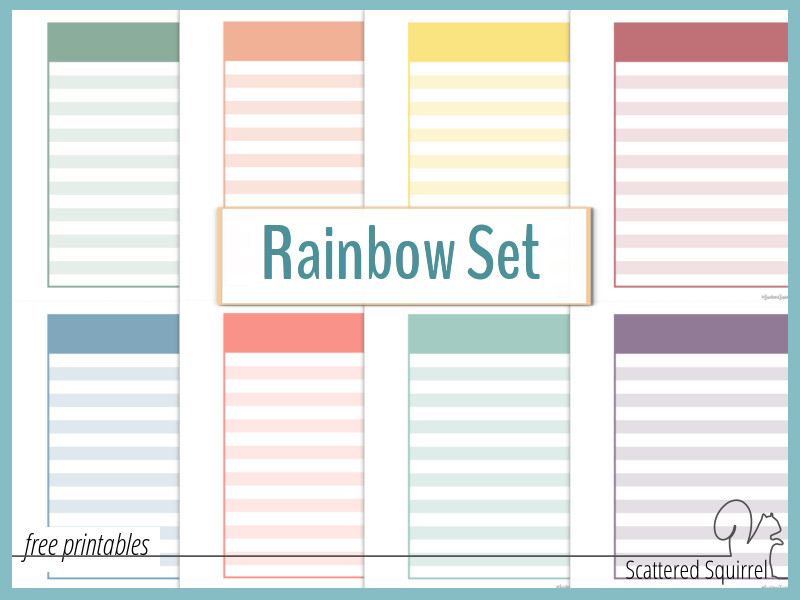 Rainbow Set Pocket Notes