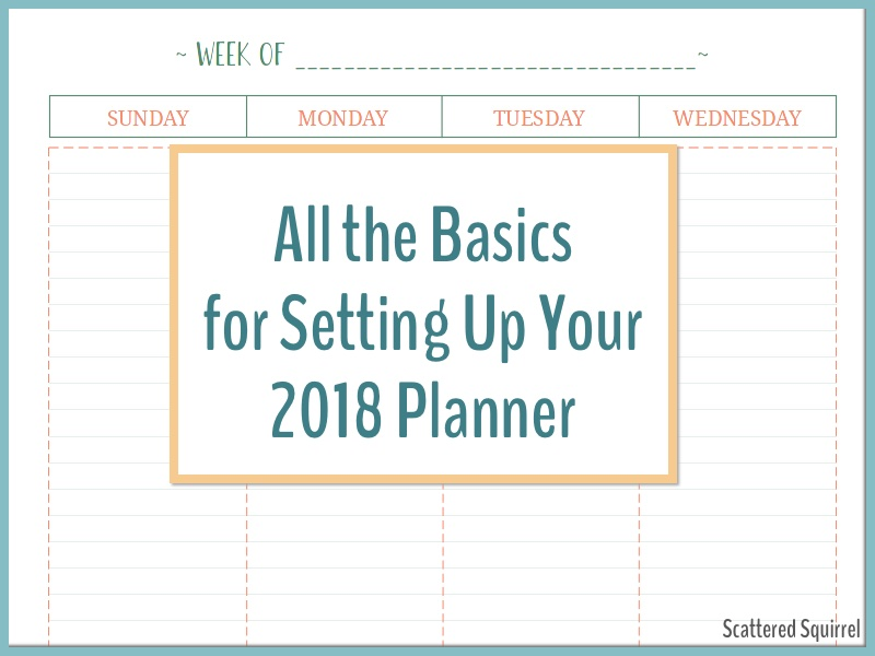All the basic pages you need to set up your 2018 Planner!