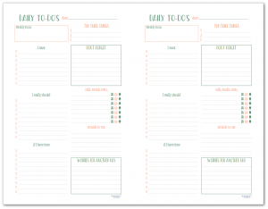 These half-size daily to-do planners are great for organizing your tasks and errands each day.