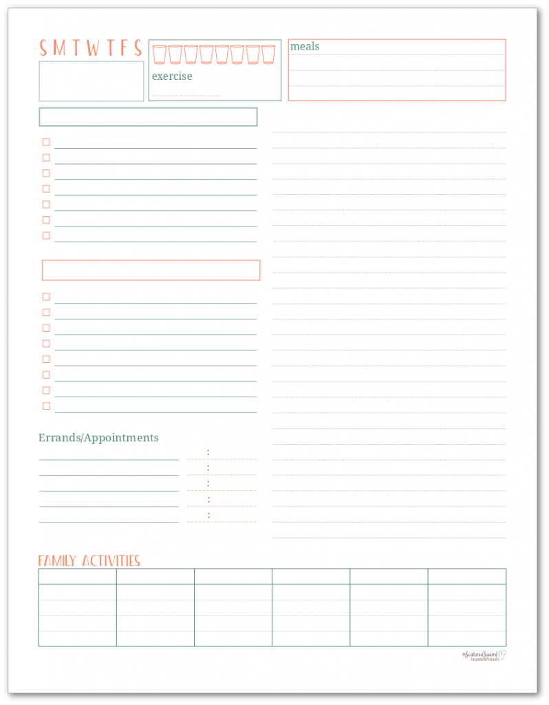 This daily planner and tasklist - lets you plan your day and keep track of what your family has going on.