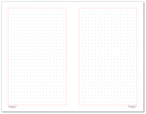 Half-Size Dot Grid note paper to match the 2018 planner colours.