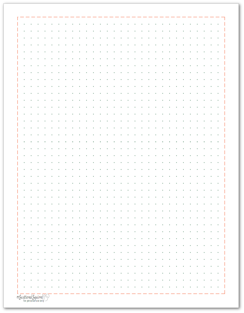 Dot grid note paper to match the 2018 planner colours