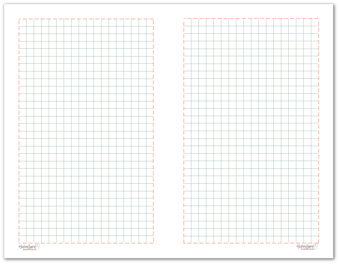 Half-Size Grid Note paper to match the 2018 planner colours.