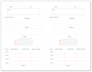 Building new habits can be challenging, this half-size habit building worksheet and tracker can help you focus on creating solid habits that work for you.